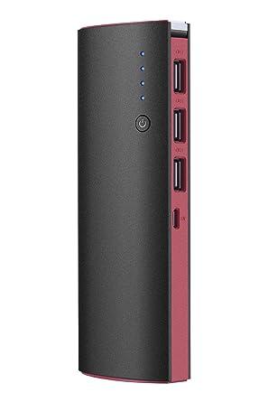 Amazon.com: Cargador de batería externa portátil con 3 USB y ...