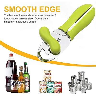 Multifunction Can Opener Safe Blade Sharpener Bottle Kitchen Steel Gadget