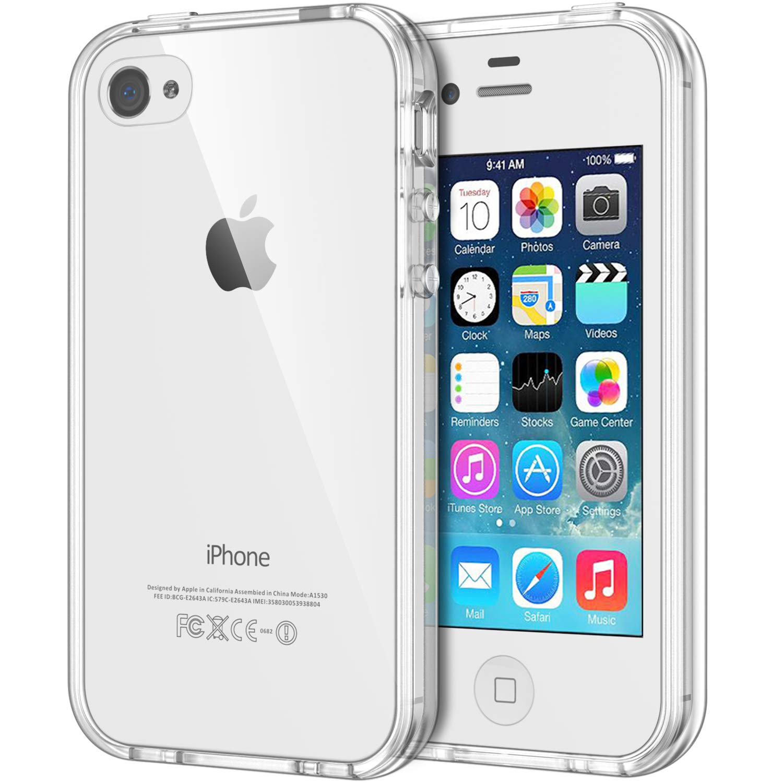 JETech Funda Compatible iPhone 4s y iPhone 4, Carcasa Anti-Choques y Anti-Arañazos, Transparente