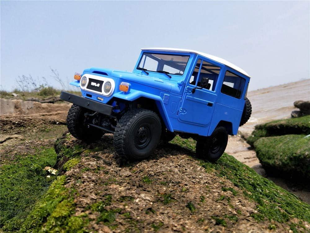 ACHICOO C34 1/16 R-TR 4WD 2.4G Buggy Crawler Off Road RC Car 2 CH Véhicules avec Phare en Plastique Bleu