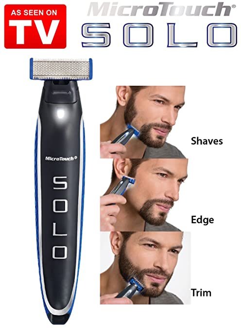 Microtouch Solo - Máquina de afeitar multiusos, de precisión con cuchilla doble de acero inoxidable