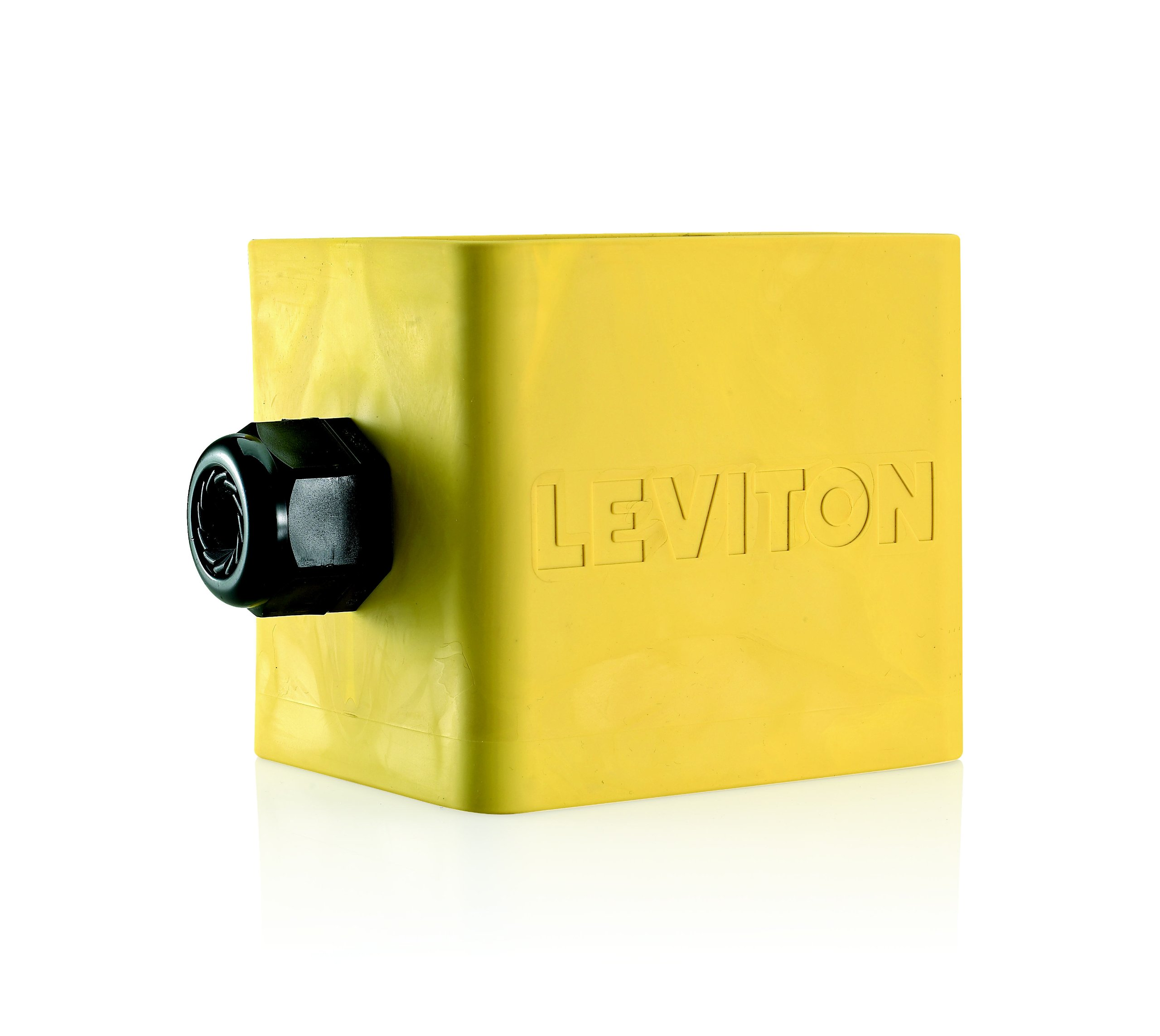 Leviton 3200-2Y Portable Outlet Box, Two-Gang, Standard Depth, Pendant Style, Cable Diameter 0.590-Inch, 1.000-Inch, Yellow by Leviton