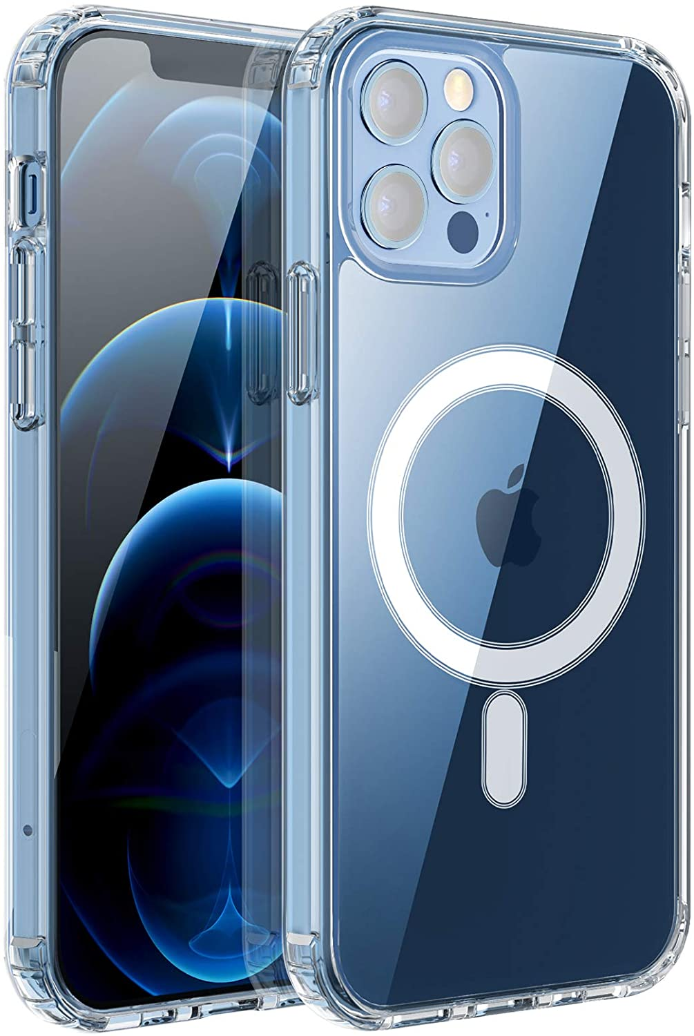 RESTONE Clear Magnetic Case for iPhone 12/iPhone 12 Pro
