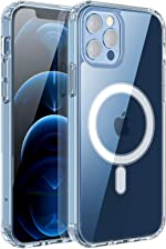 RESTONE Clear Magnetic Case for iPhone 12/12 Pro 6.1 with Mag-Safe