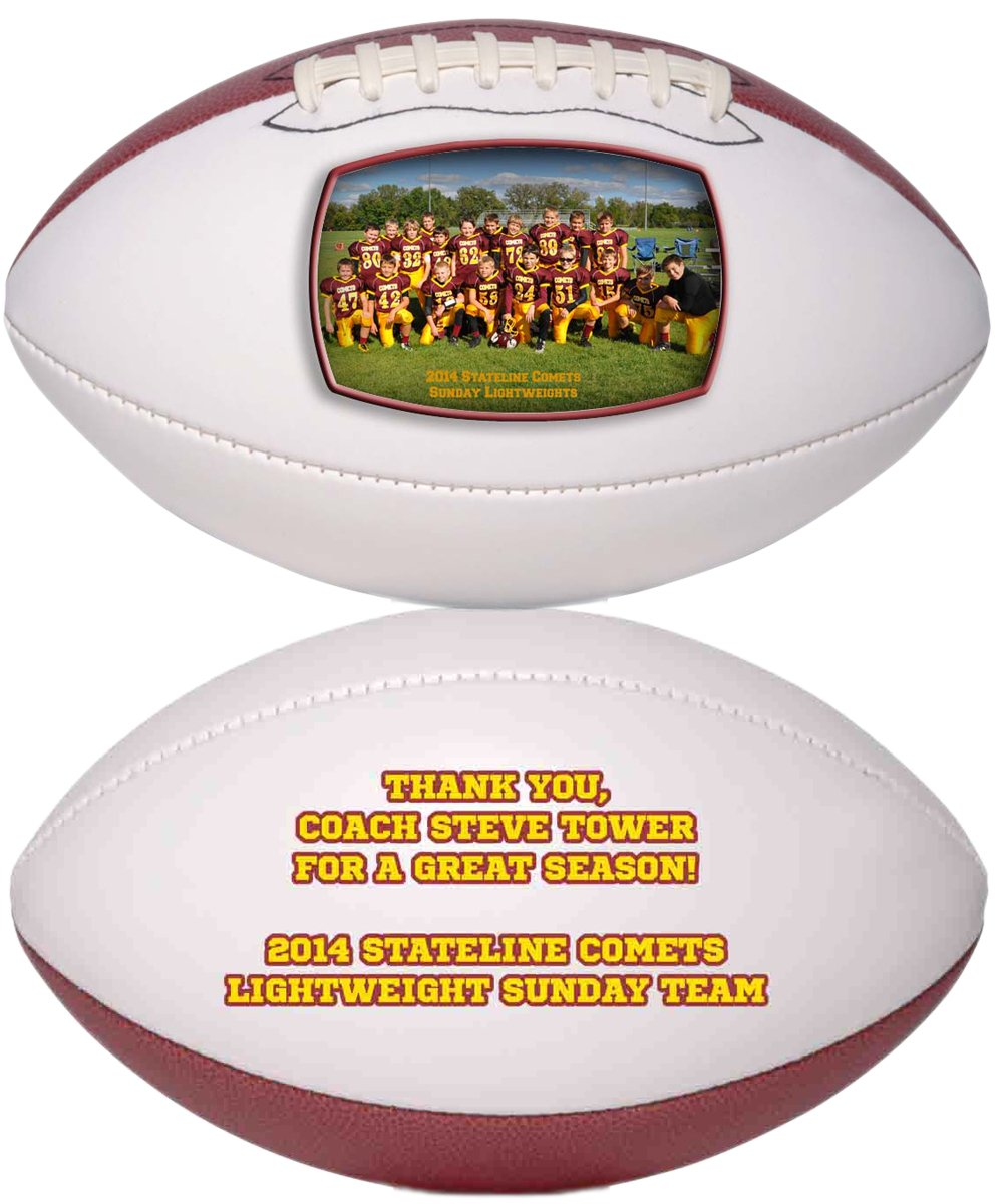Personalized Custom Photo Regulation Football - Any Image - Any Text - Any Logo by Personalized Sports Balls (Image #5)