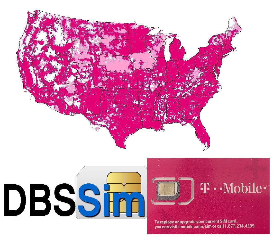 Llamadas Textos y Datos ilimitados en 4G LTE en Estados Unidos Nano Micro Tama/ño est/ándar DBS SIM Reutilizable para Estados Unidos