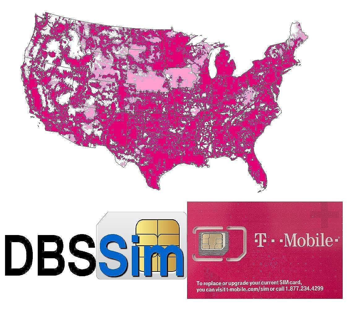T-Mobile Tarjeta SIM prepagada ilimitada, texto y datos en ...