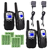 Amazon Price History for:Swiftion Rechargeable Kids Walkie Talkies 22 Channel 0.5W FRS/GMRS 2 Way Radios with Charger and Rechargeable Batteries (Black, Pack of 4)