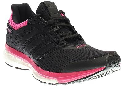 4bd4daae47c42 adidas Performance Women s Supernova Glide 8 W Running Shoe Black Equipment  Pink 5 B