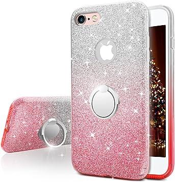 Miss Arts Funda iPhone 6S, Funda iPhone 6, Carcasa Brillante Brillo con Soporte Giratorio de 360