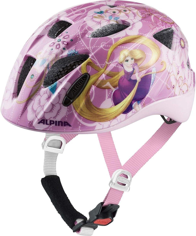 Alpina Rocky - Casco de Bicicleta para niña, diseño de Rapunzel de ...