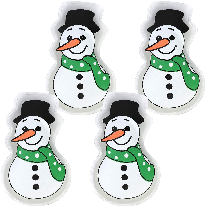 03 St/ück - Schneemann//Santa//Elch com-four/® 3X Taschenw/ärmer Schneemann Handw/ärmer in verschiedenen weihnachtlichen Motiven Santa und Elch