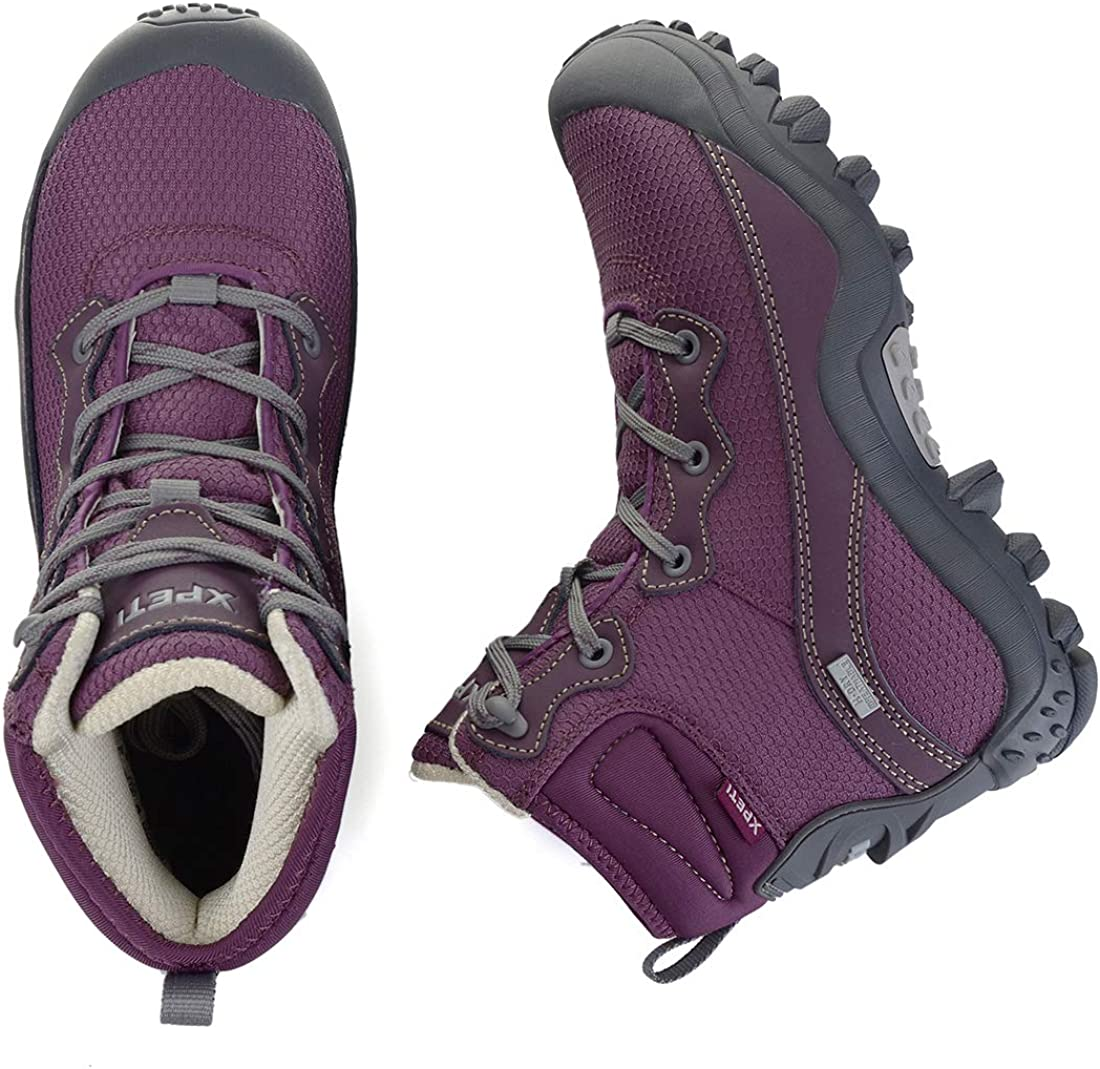 SKENARY Womens Dimo Hiking Boots Mid Waterproof Trekking Outdoor Boot