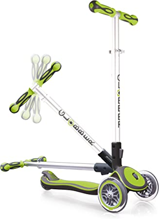 Globber Elite 3 Wheel Folding Adjustable Height Scooter (Green)