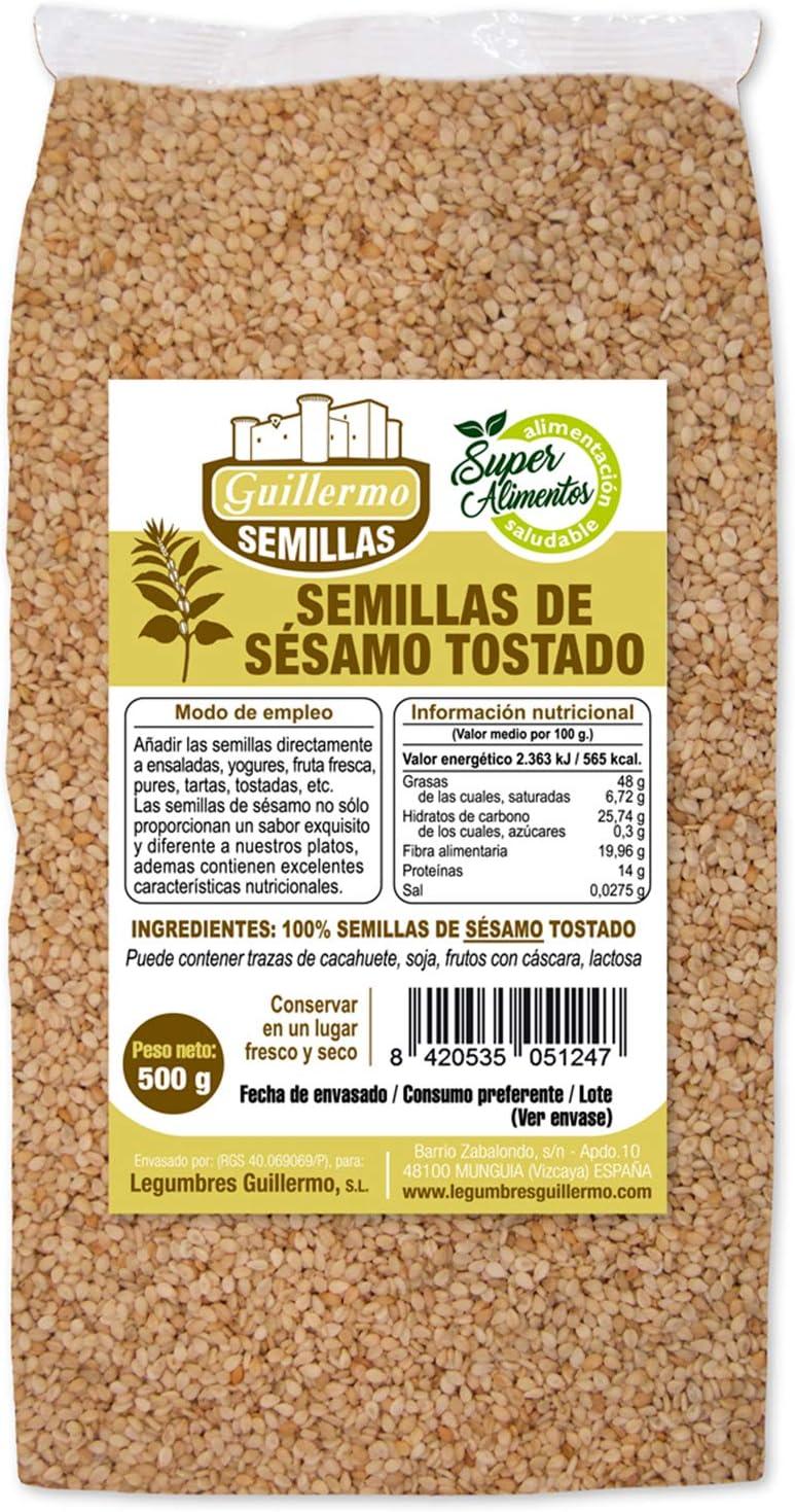 Guillermo Semillas de Sésamo Tostado Ecológico Superalimento ...