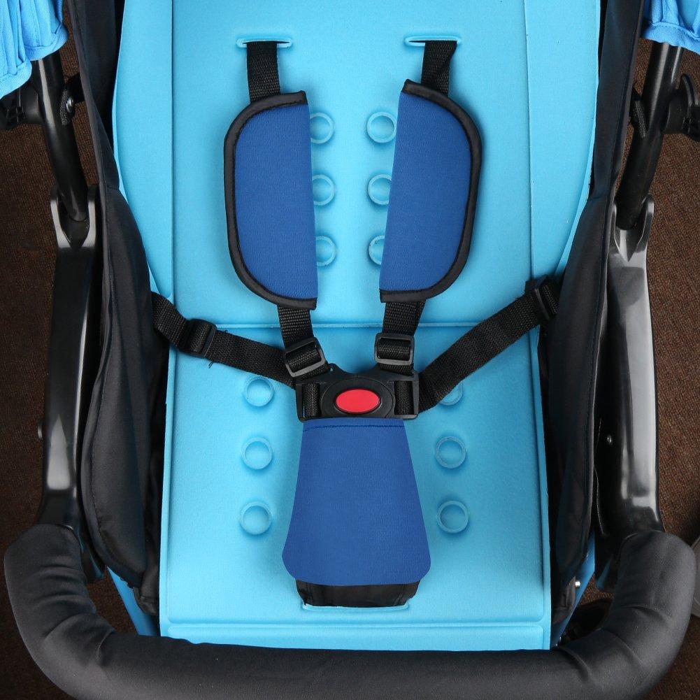 Stroller Belt Covers Stroller Belt Cover Soft Car Seat Strap Pads Baby Seat Belt Covers Black Baby Shoulder Pads,Hip Support Baby Head Support Accmor Baby Car Seat Strap Covers Suit
