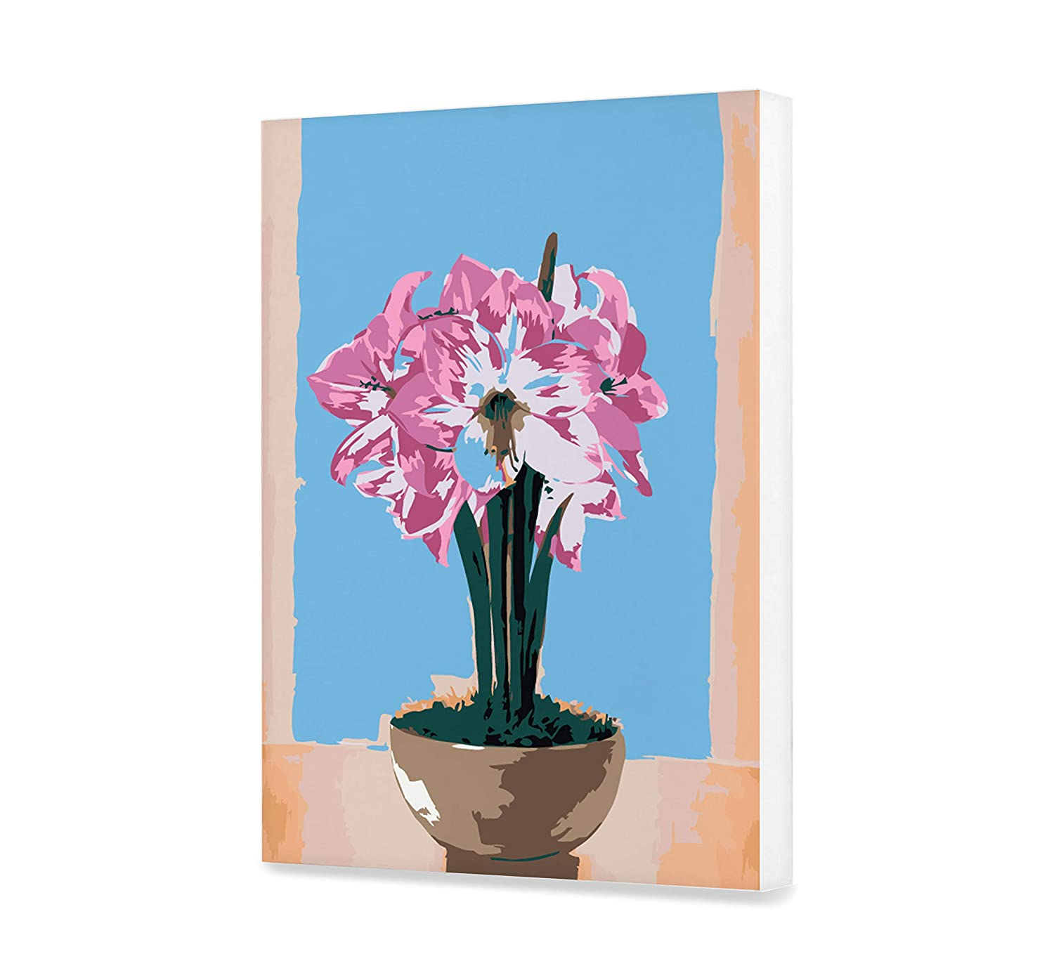 Amaryllis Paint By Numbers For Adults Beautiful Acrylic Flowerpot Painting On Canvas Flower Paint By Your Own Plant DIY Kit Oil Wall Art Decoration