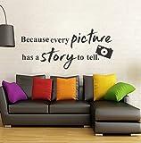 Wallstick 'Picture Quotes Camera' Wall Sticker (Vinyl, 49 cm x 4 cm x 4 cm)