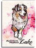Printon 愛犬/猫のオーダーメイド 絵 卓上パネル (132 x 18 x 11mm)