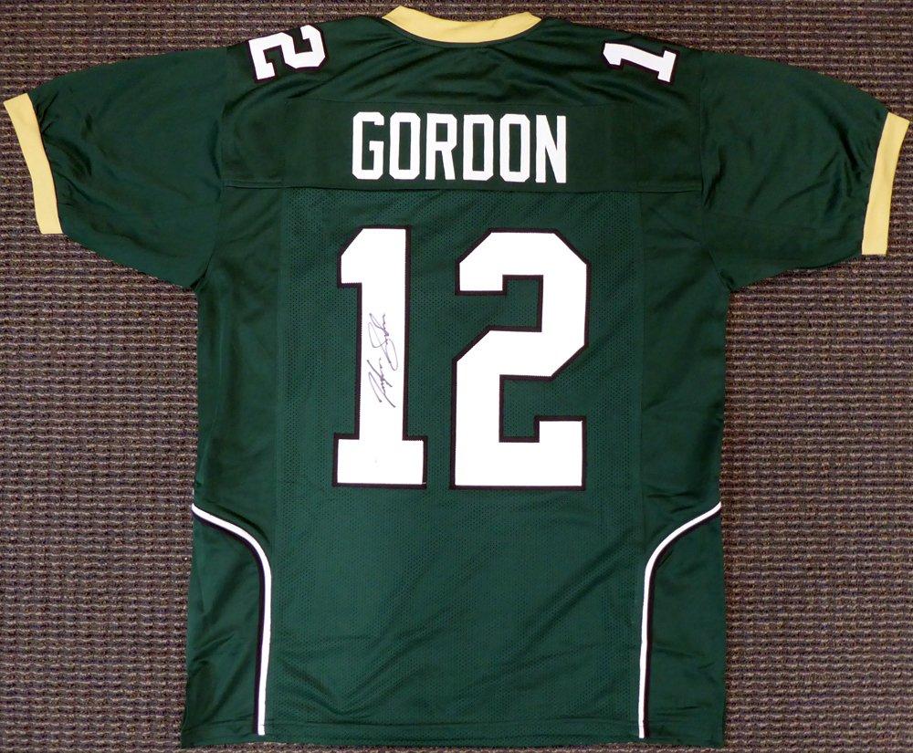 the best attitude 43172 526dc Baylor Bears Josh Gordon Autographed Green Jersey Beckett ...