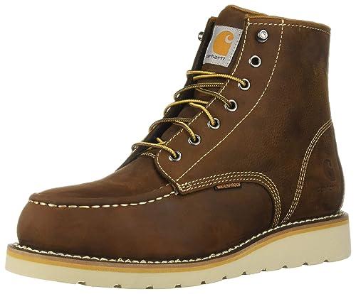 6414071af96 Carhartt Men's 6 Inch Waterproof Wedge Boot Steel Toe Industrial