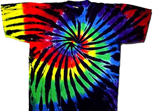 9a020d21d5e3a5 Tie Dyed Shop Stained Glass Spiral Tie Dye T Shirt-Shortsleeve-2X- Multicolored