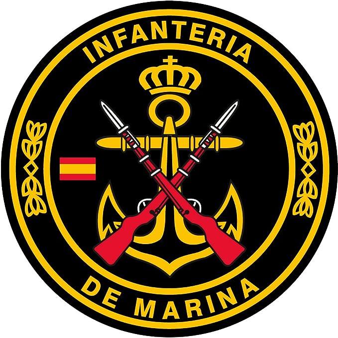 Artimagen Pegatina círculo Infantería de Marina ø 50 mm.: Amazon.es: Coche y moto