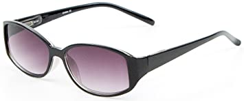 717f4b8a7d +2.50 Womens Black Reading Sunglasses Sun Readers Glasses Flex Temples 100% UV  Protection Lightly