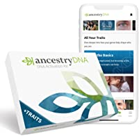AncestryDNA + Traits: Genetic Ethnicity + Traits Test, AncestryDNA Testing Kit with 25+ Appearance and Sensory Traits…