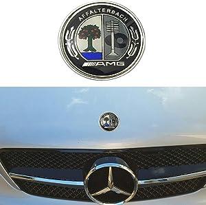 57MM Chrome Apple Tree Logo Flat Hood Star Emblem Badge for Mercedes Benz C E SL Class Decoration.(Apple Tree)