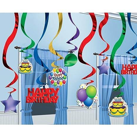 Amazon.com: 25 globos Feliz cumpleaños fiesta Colgante ...