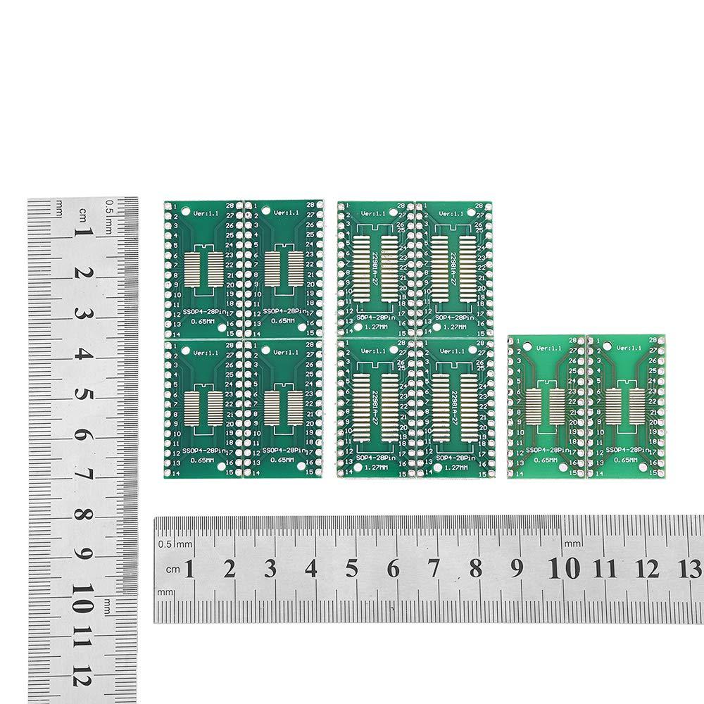 BouBou 50 St/ücke Tssop28 Ssop28 Zu Dip28 Sop28 Transferplatine Dip Pin Board Pitch Adapter