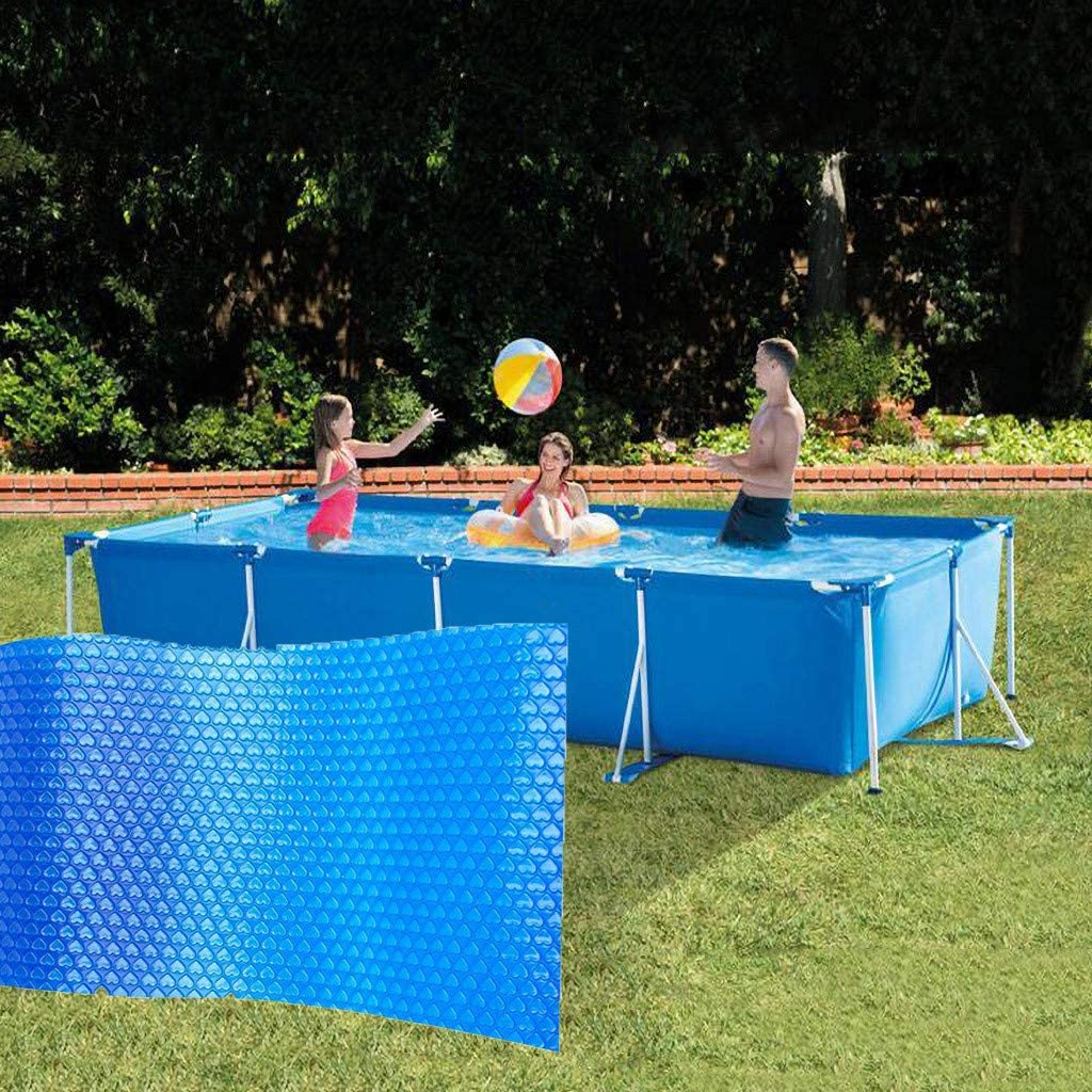MMMA B/âche Solaire de Piscine /à Bulles Bleue rectangulaire,B/âche pour Piscine,Protection Couverture de Piscine 260cm x 160cm