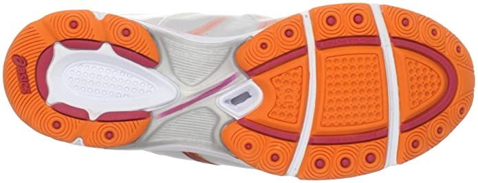 6f1bc317ba12 ASICS Women s Gel-Ipera Cross Trainer White Orange Poppy Raspberry 6 B(M)  US  Amazon.in  Shoes   Handbags