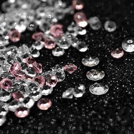 Bottoni Pietre Decorative Cristalli Diamanti Coriandoli Decorazioni Tavolo per Matrimonio Battesimo Comunione Festa Okaytec 11000 pz Diamante Decorativo per Tavolo 10000 pz Chiari /& 1000 pz Rosa
