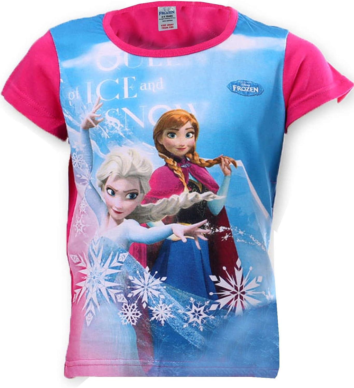 Disney Frozen Elsa Anna Girls Top Tshirt Age 4 to 8 Years