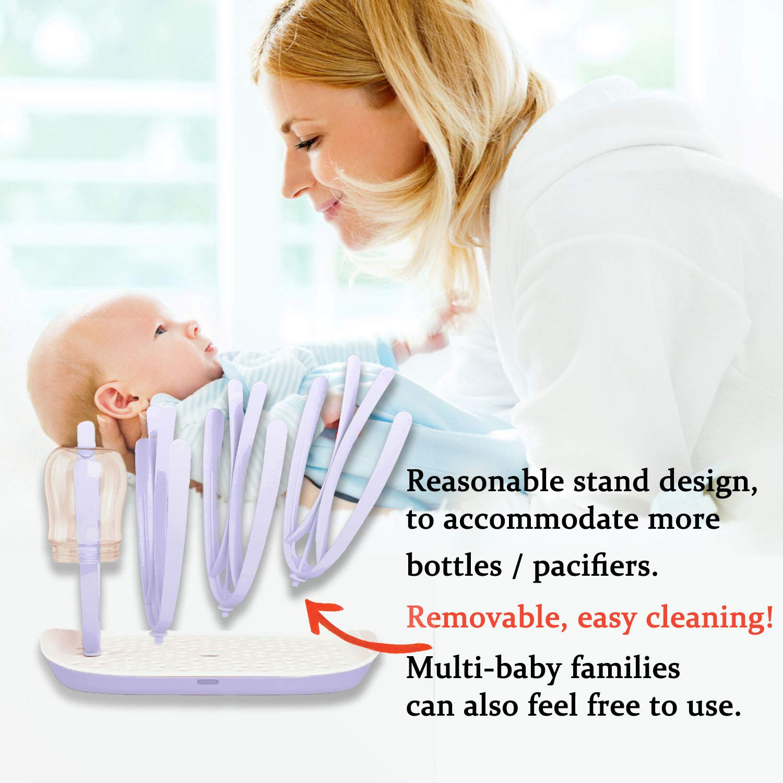 Abtropfgestell f/ür Babyflaschen,Trockenst/änder f/ür Flaschen KiraKira babyflaschen trockenst/änder BPA-frei Abtropfgestell f/ür Babyflaschen Bechern und Babyflaschen Zubeh/ör Flaschen