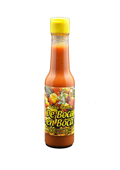 Hot and increase taste Mexican orange habanero sauce De BOCA en BOCA 148ml