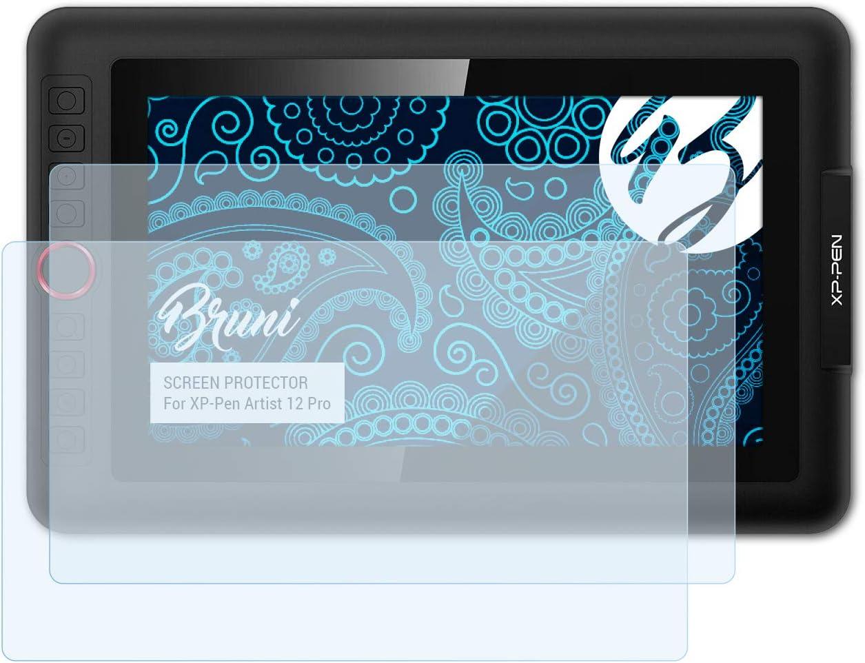 Bruni Pel/ícula Protectora Compatible con XP-Pen Artist 12 Pro Protector Pel/ícula Claro L/ámina Protectora 2X