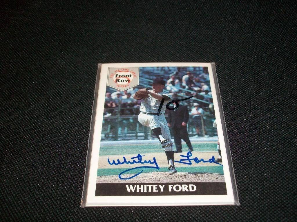 B00CRM629C New York Yankees HOF Whitey Ford Auto Signed Front Row All Time Greats Set M7 71eqi70HYKL