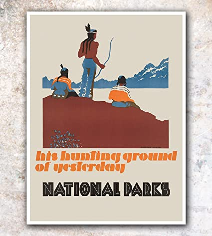 Amazon com: National Parks Decor Vintage Travel Poster Art