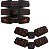 ホメメ EMS腹筋ベルト 腹筋トレーニング 15段階調節 6モード 男女兼用 USB充電式 セット商品 本体*3 一年保証