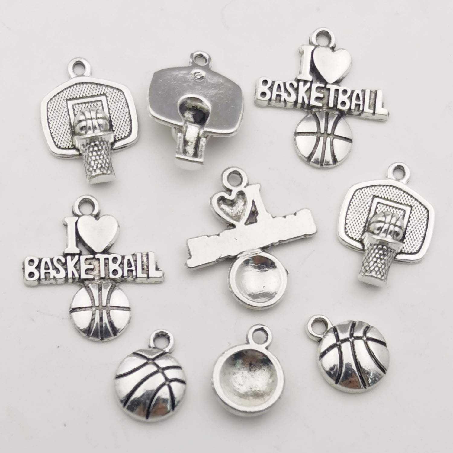 Ball Sports Charms-75pcs Alloy Ball Games Sports Basketball Charms for Jewelry Making Crafting DIY Necklace Earrings Bracelet Accessaries M324