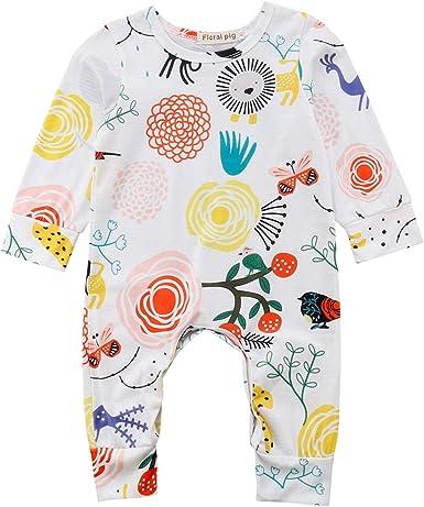 Newest Baby Bodysuit Cartoon Jumpsuit Cotton Girls Kids Romper Newborn Clothes
