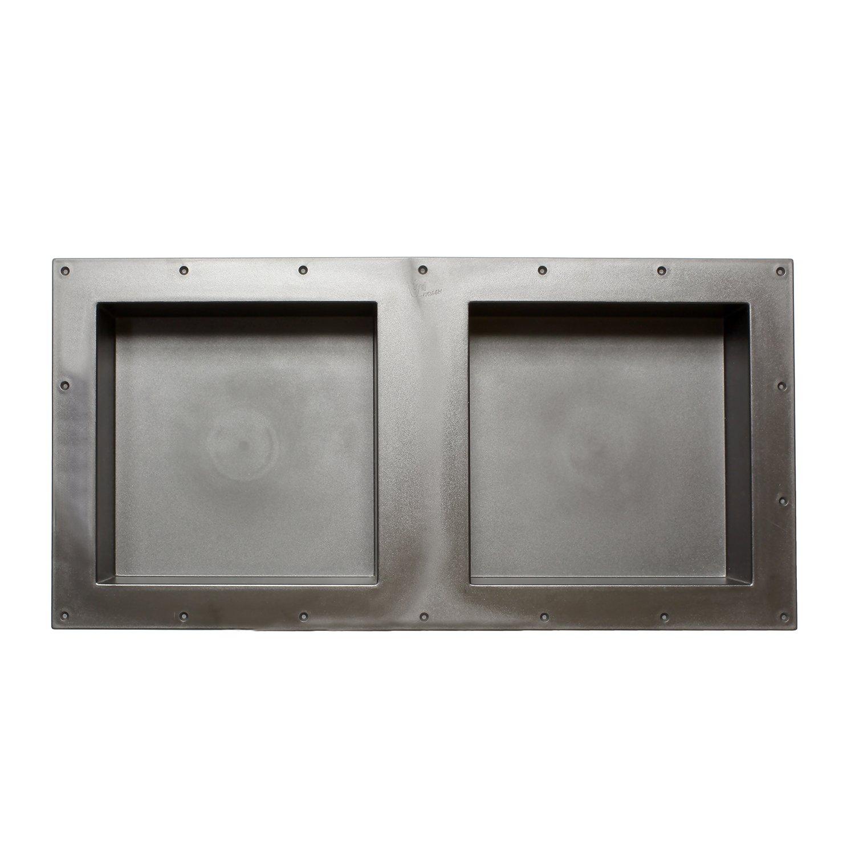 7Penn Shower Niche 32 x 16 Inch Double Shelf Shower Insert Shower Shelves for Tile Walls – Wall Niche Shower Box