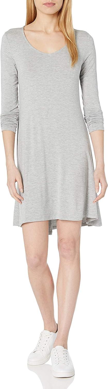 Amazon Brand - Daily Ritual Women's Jersey Long-Sleeve V-Neck Dress