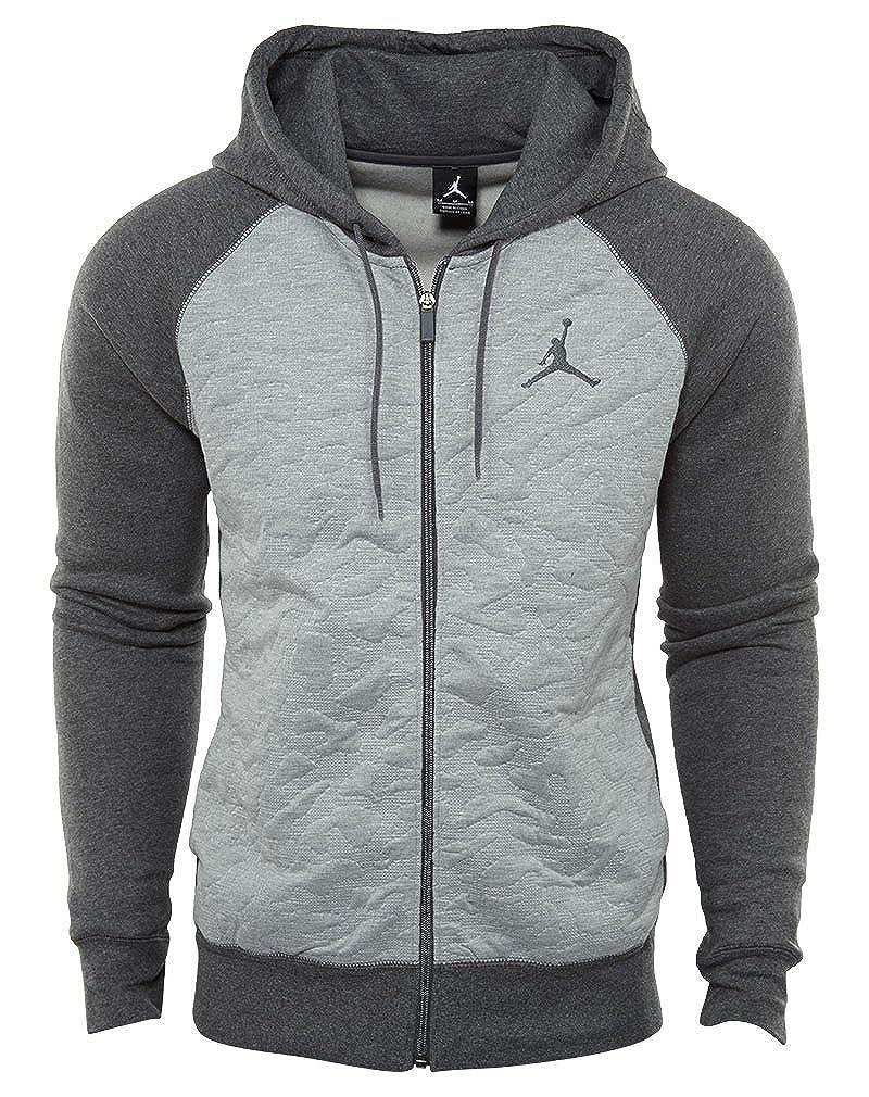 57eb291a704d NIKE Men s Air Jordan Retro 3 Full-Zip Fleece Hoodie (Medium) at Amazon  Men s Clothing store