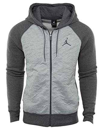 4034051fb4c1 NIKE Men s Air Jordan Retro 3 Full-Zip Fleece Hoodie (Medium) at ...