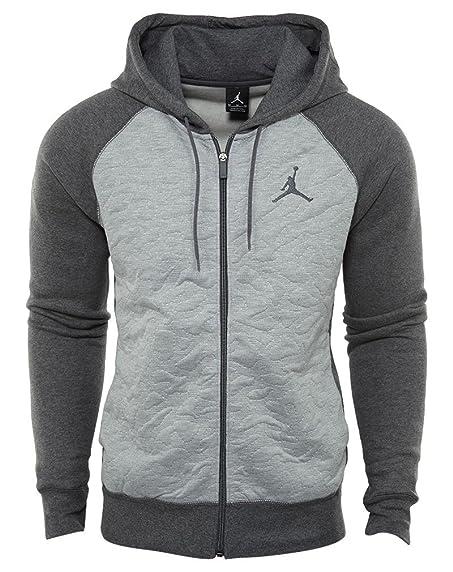 Jordan Retro 3 Full-Zip Fleece Hoodie (XL, Charcoal)