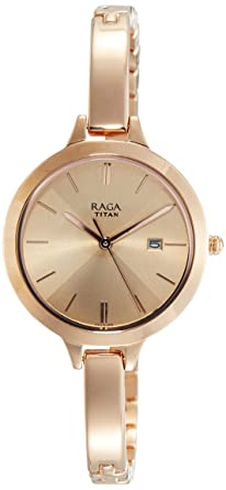 19b855f723f Image Unavailable. Image not available for. Colour  Titan Raga Viva Analog  Rose Gold Dial Women s Watch-2578WM01